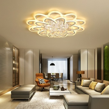 Postmodern flower type acrylic LED ceiling lights Home Living Room Bedroom Study Room Ceiling lamps Commercial lighting