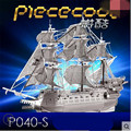 ICONX Piececool DIY 3D Metal Puzzle toy, P040-S The Flying Dutchwan Design Puzzle 3D Boat , Educational Brinquedos, Kids Toys