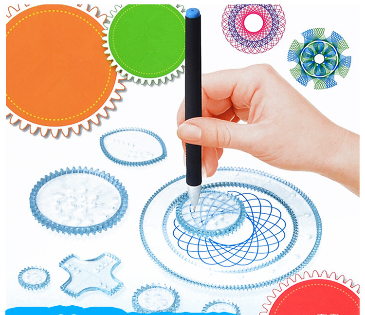 DIY Children Art Painting Template Ruler Puzzle <font><b>Drawing</b></font> Ruler Party Supplies Educational <font><b>Drawing</b></font> Toys for Kids Birthday Gift