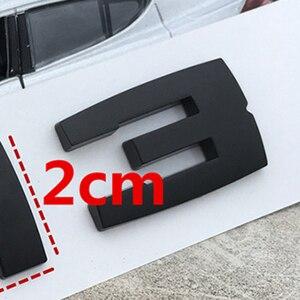 Image 3 - DIY Matte Schwarz für BMW M M1 M2 M3 M4 M5 M6 X1M X2M X3M X4M X5M X6M M550d M50i m135i M240i M335d Emblem Auto Stamm Abzeichen Aufkleber