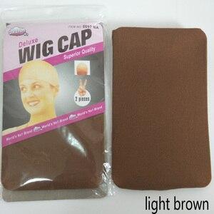 Image 5 - 36 peças (18 pacotes) touca de cabelo com elástico 2 unidades/pacote, chapéu para cabelo com tecido de soneca e bege