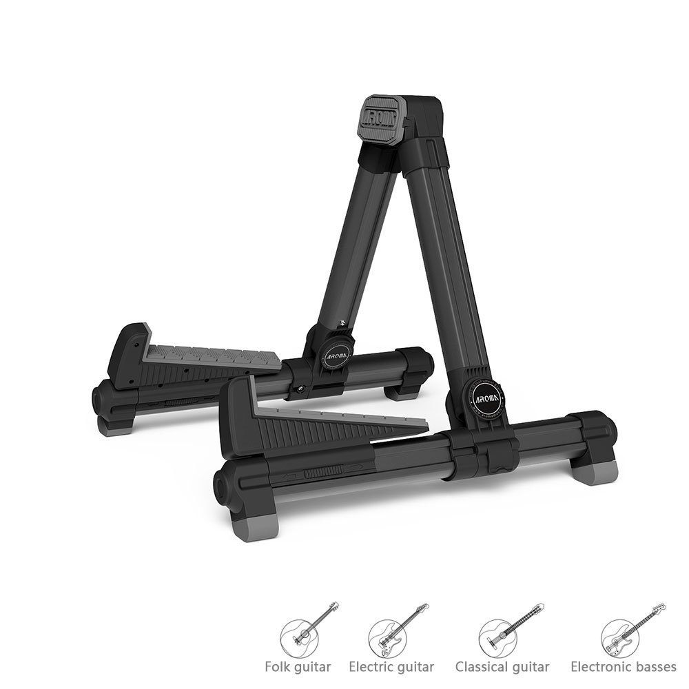 1 pcs folding music stand aroma guitar a frame portable multiple guitar stand adjustable for. Black Bedroom Furniture Sets. Home Design Ideas