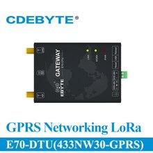 E70 DTU(433NW30 GPRS) tiểu G Đến GPRS Modem Không Dây Sao Mạng 433 Mhz 30dBM Dài Khoảng Cách RF Thu Phát