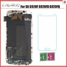 Dành cho Samsung Galaxy Samsung Galaxy S6 G920F G920I MÀN HÌNH Hiển Thị LCD Bộ Số Hóa Cảm Ứng Dành Cho Samsung S6 G920FD G920FQ MÀN HÌNH LCD khung