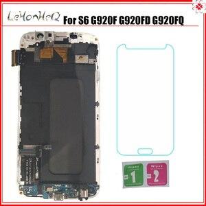 Image 1 - Para Samsung Galaxy S6 G920F G920I LCD Screen Display Toque Digitador Assembléia Para Samsung S6 G920FD G920FQ LCD com quadro