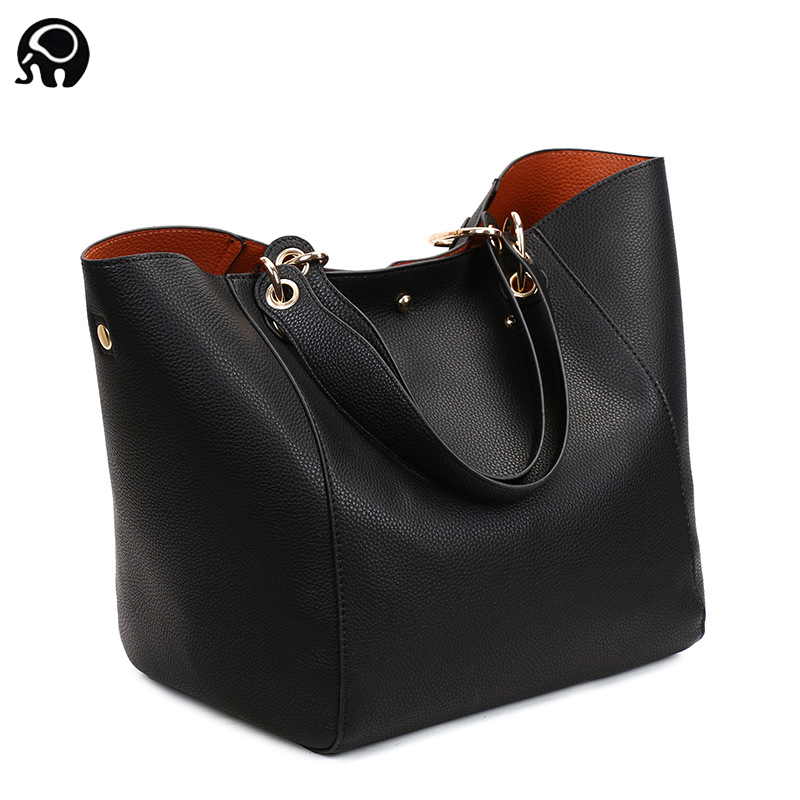 <font><b>2018</b></font> Luxury brand <font><b>Big</b></font> Size Vintage PU Tote Handbag <font><b>Women's</b></font> Casual Large Capacity <font><b>Shoulder</b></font> <font><b>Bag</b></font> Girl Retro Travel Bolsa 12 colors image