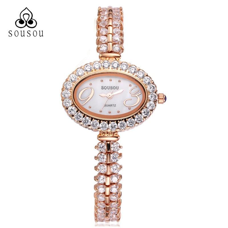 ФОТО Fashion Luxury Dress Gold/Silver Natural Zircon Wrist Watch for Women Luxury Ladies Elegant Bracelet Watch Montre Femme Clock