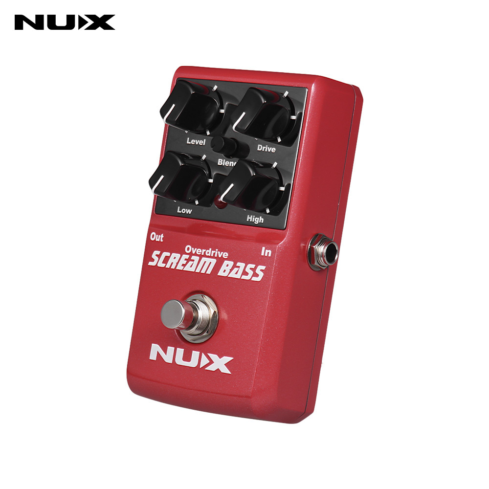 buy nux guitar pedal scream bass analog overdrive effects guitar effect pedal. Black Bedroom Furniture Sets. Home Design Ideas