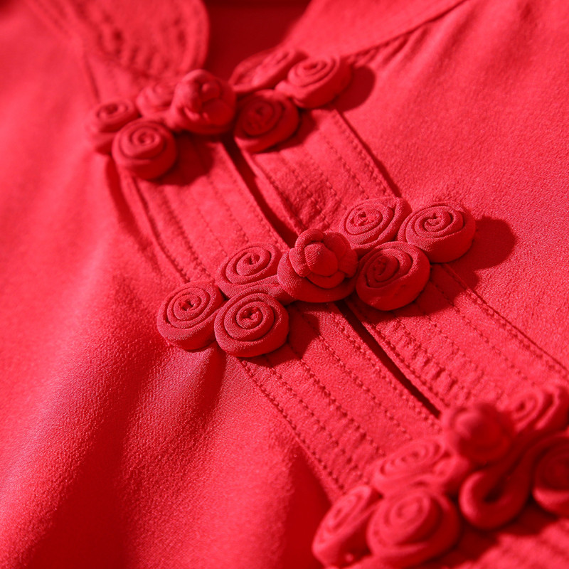 100seide chinesischen frauen schwarzrot bluse zwei schwarz 2018 rot solide herbst pullover langarmshirts stil neue und farbe cqRjSL354A