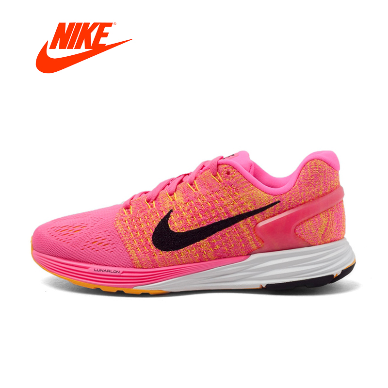 Original New Arrival Official NIKE Summer Breathable WMNS NIKE LUNARGLIDE 7 Running Shoes Women Sneakers Trainers original new arrival nike wmns oceania textile women s skateboarding shoes sneakers