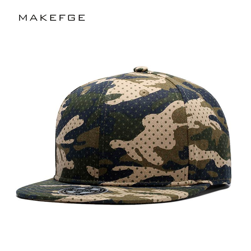 hip hop Camouflage Baseball Cap Snapback Hats For Men Women Unisex Flat Cap With Straight Visor Camo Army Fans Adjustable Casual nolan beck high quality camouflage snapback hats baseball cap tactical hip hop adjustable for men and women gorras s026