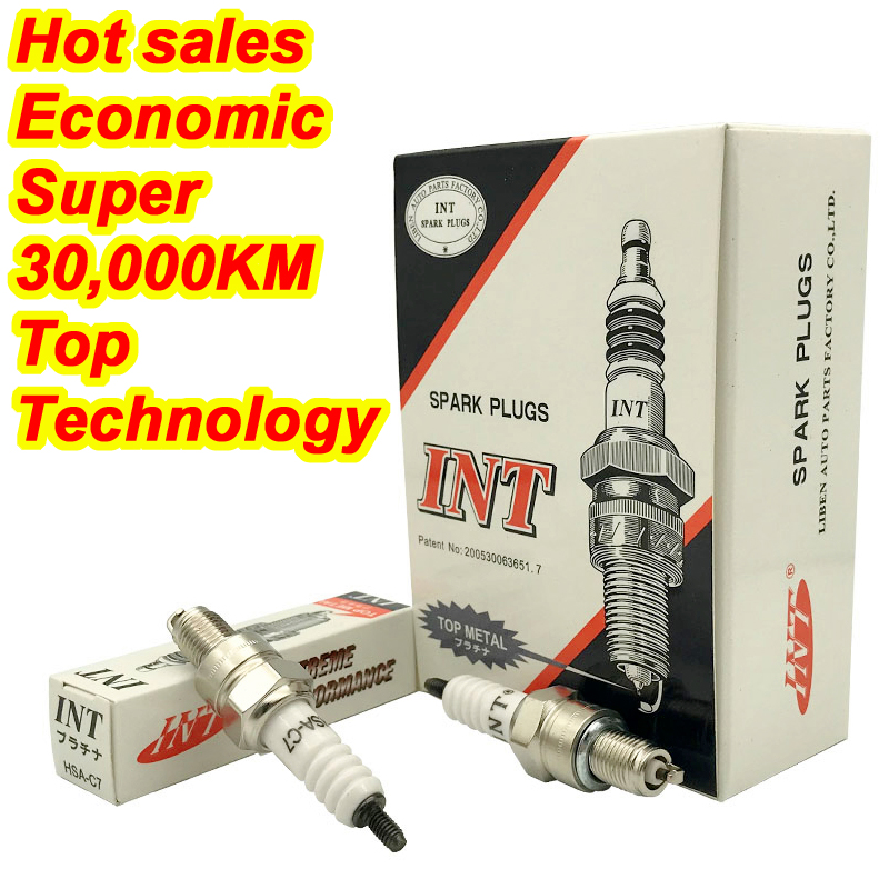 US $2 58 8% OFF|2PCS INT high quality Motorcycle Racing HSA C7 Spark Plug  For GY6 CR7HIX CR7HSA C7HSA A7RTC A7TC UF22 CR6HSA C5HSA C6HSA-in Spark