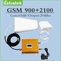 Dual band Мобильный сигнал повторителя 2 г 3 г EDGE/HSPA 900 МГц 2100 МГц GSM WCDMA UMTS усилитель сигнала полный комплект с Антенной и кабелем