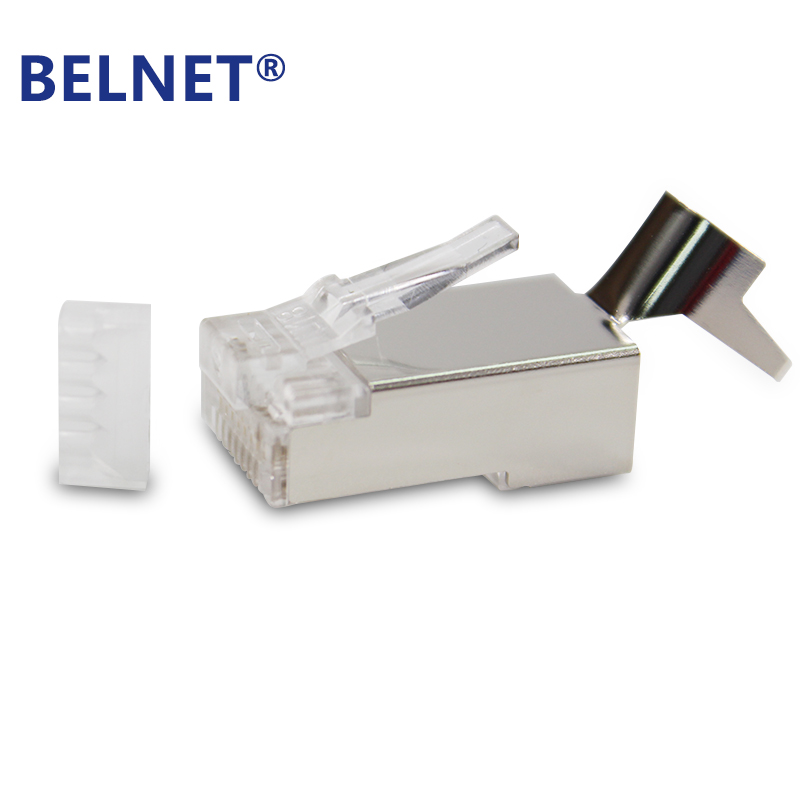 BELNET CAT7 FTP RJ45 Plug modular connector for CAT7 shielded mmethernet cable AWG23 0.57 8P8C 2pcs