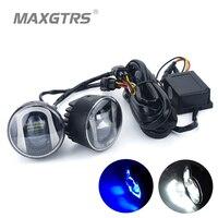 2x 34W 2 5 3 5 Universal Car COB LED DRL Driving Light Daytime Running Lights