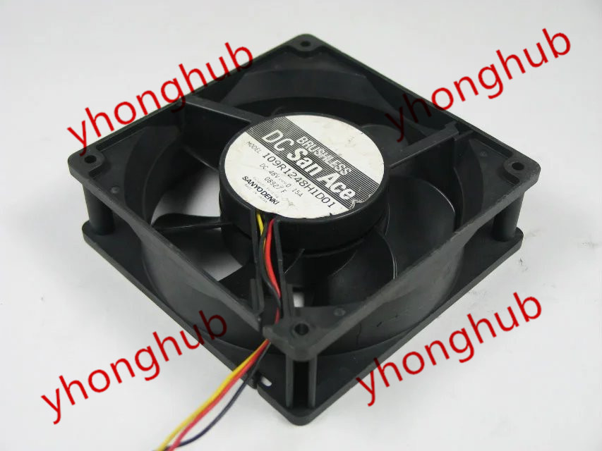 SANYO 109R1248H1D01 DC 48V 0.15A 3-wire 120x120x38mm Server Square Fan sanyo denki 109p0424h6d13 double fan server square fan dc 24v 0 07a 40x40x20mm 3 wire