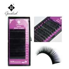 0.07JBCDL 4 pcs/Lot  Factory Price Top Quality 100% Handmade Eyelash Extension Grafted Natural curl Makeup Free Shipping