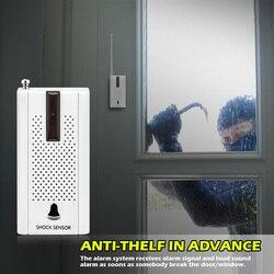 KERUI 433 MHz Drahtlose Tür Fenster Vibration Detektor Shock Sensor Für Wireless Einbrecher Home Alarm System Vibration tür