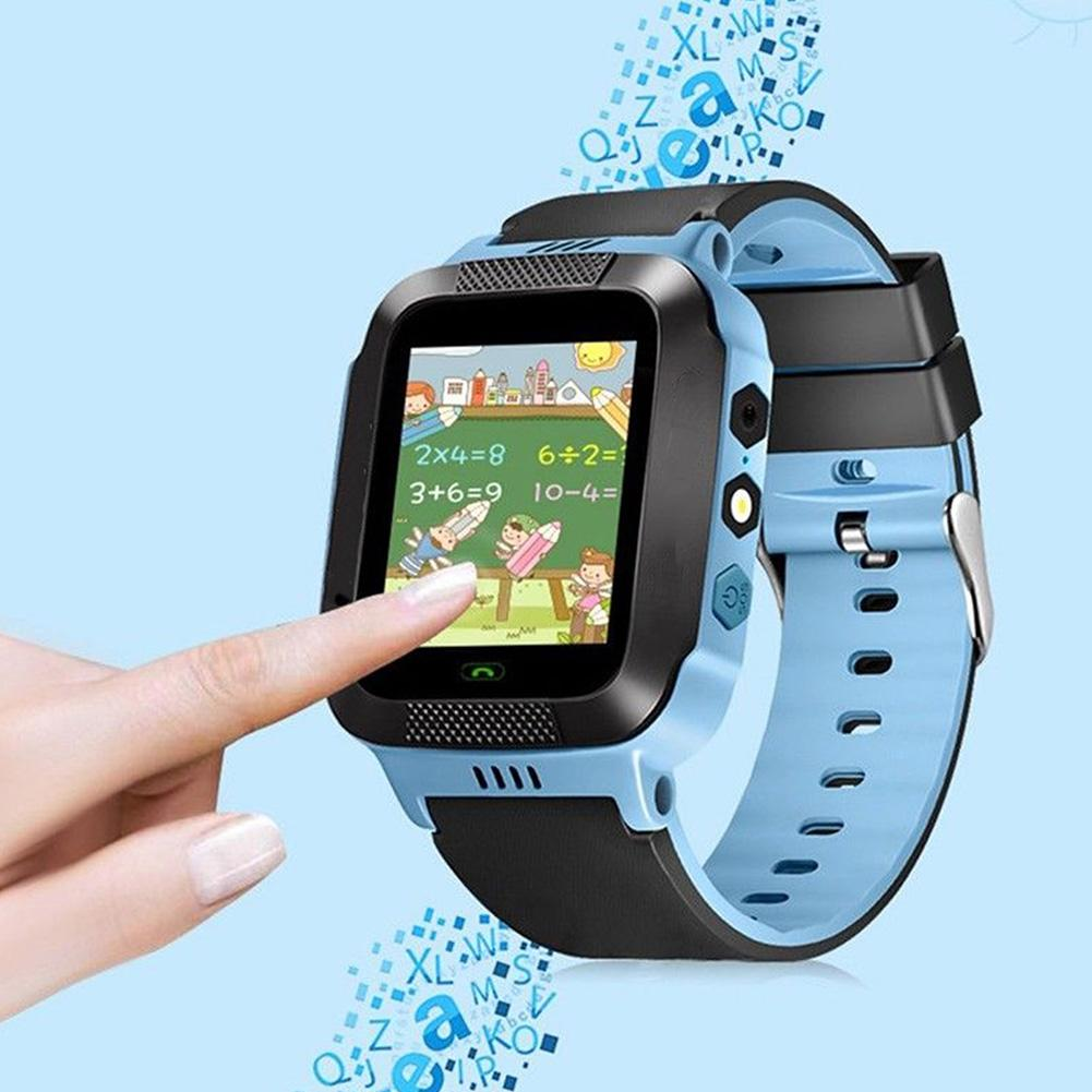 For Kid Safe Anti-lost GPS Tracker SOS Call GSM Smart Watch Phone for Android iOS Quadruple Locating Function SOS-one key Watch