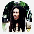 Горячее надувательство мужская 3d толстовки забавный печати звезды Боба Марли с длинным рукавом случайно 3d кофты прекрасный пуловеры топы
