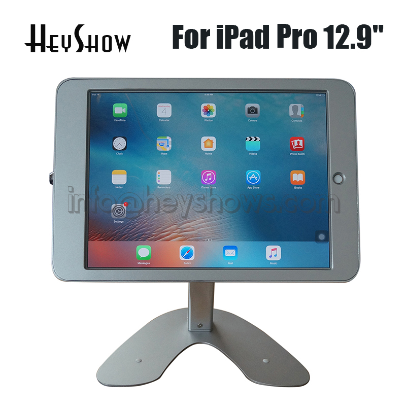 Metal protable tablet computer holder security display stand anti-theft device case for iPad pro 12.9 inch with lock fit for ipad anti theft display floor stand case with lock kiosk holder for ipad2 3 4 air pro 9 7 metal case pad frame security