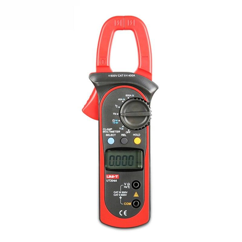 UNI T UT204A Clamp Meter Auto Range Multimeter pinza amperimetrica digital data show amperimetro capacitance meter current clamp