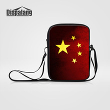 Dispalang Small Messenger Bags For Women Men Casual Business Flap Five  Starred Red Flag Design Crossbody Bag Mini Summer Handbag 660ee3afafe22