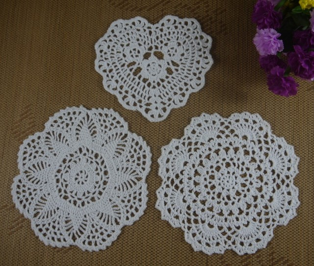 Hecho a mano Tapetes de Ganchillo patrones 3 Diseño 16 20 cm Papel ...