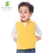 Svelte Brand Fall Autumn and Winter Children Boys Fur Fleece Vest kids Girls Soild Polar Fleese Waistcoat Enfant Unisex Clothe
