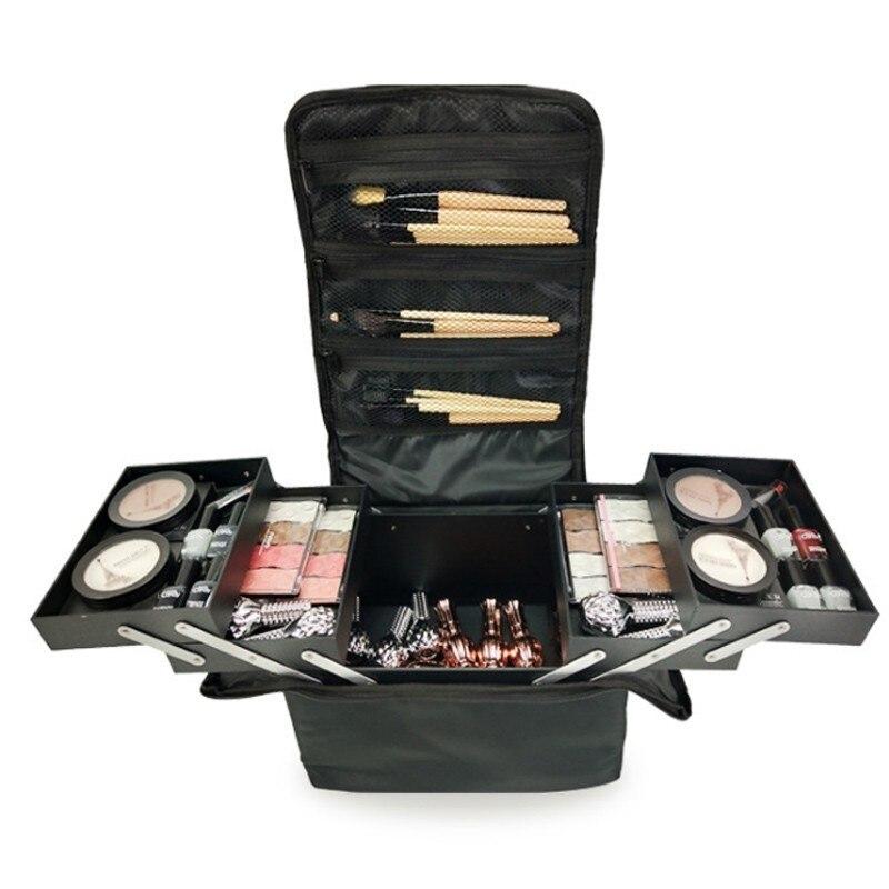 Mode femmes maquillage organisateur professionnel grande capacité multicouche clins cosmétique sac Case beauté voyage sac de rangement
