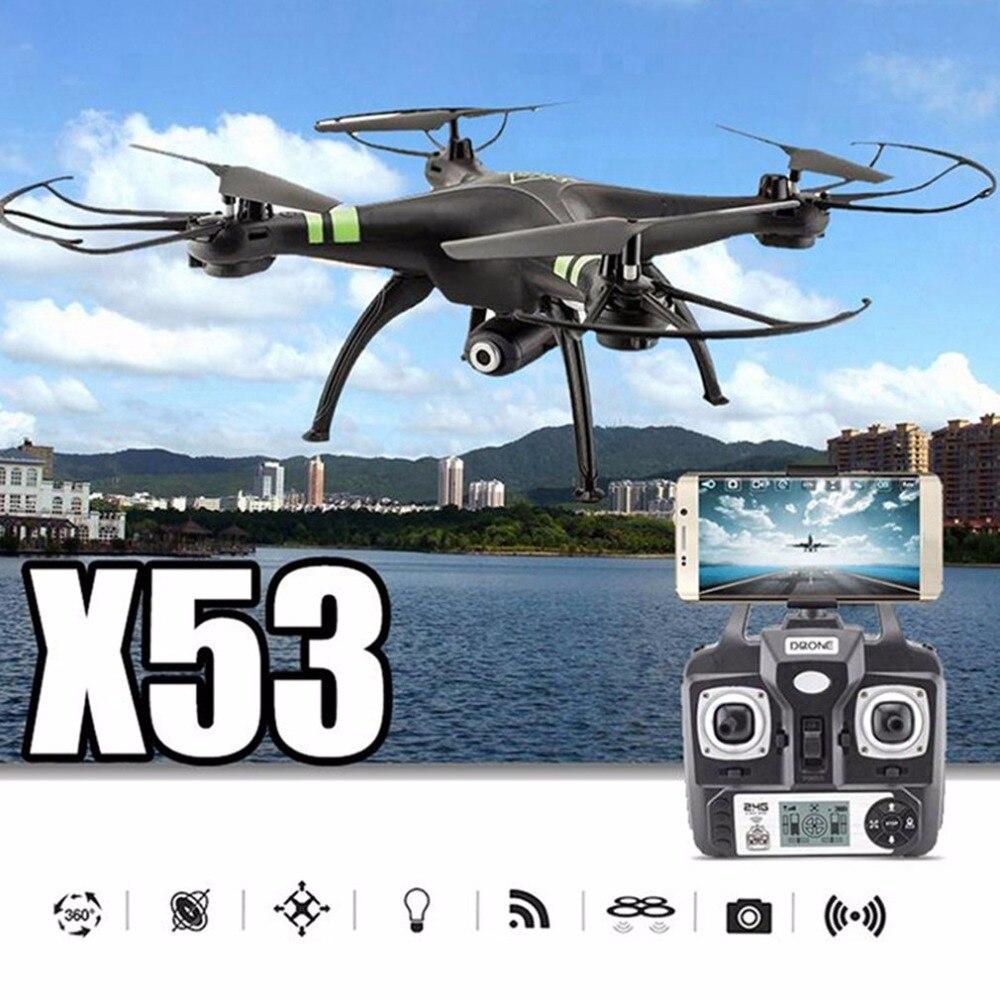 720P HD Wifi FPV Quadcopter авто-крушение удаленного модель самолета Drone Камера 300000 Пиксели без карты памяти X53