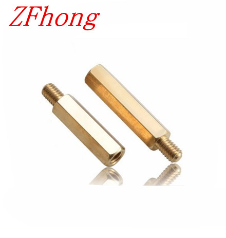 100pcs Male to Female brass spacer M2*3/4/5/6/7/8/910/11/12/13/14/15/16/17/18/19/20+4 2mm Brass Hex Standoff 19 11 5 3