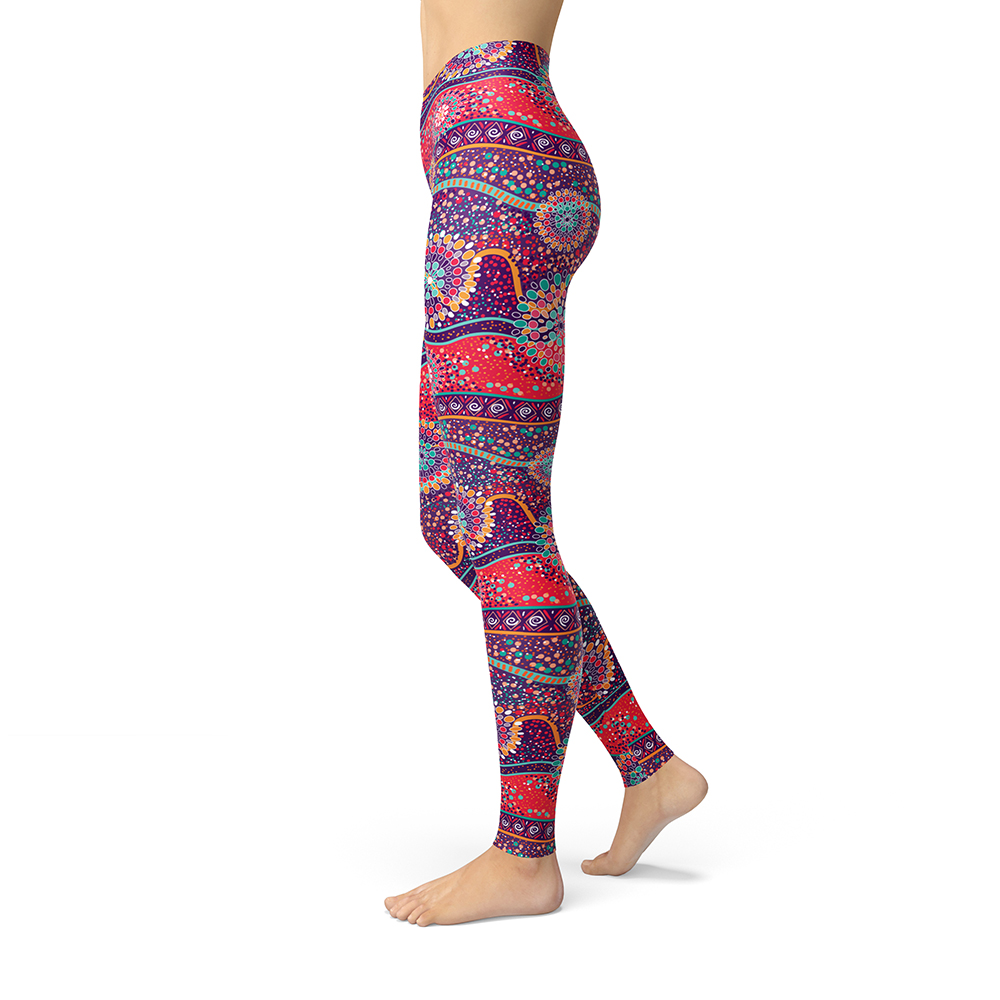 Aztec Indie Folk Printed Leggings For Women Girls Ethnic Brushed Buttery Soft Fashion Plus Size Slim Fitness High Waisted Legins
