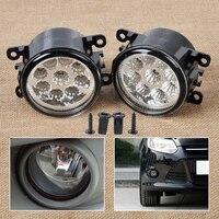 Beler 2pcs 9 LED Round Front Right Left Fog Lamp DRL Daytime Running Driving Light 33900STKA11