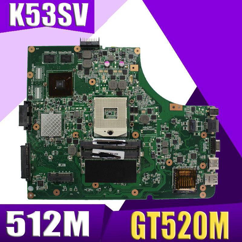 XinKaidi K53SV материнская плата для ноутбука ASUS K53SM K53SC K53S K53SJ P53SJ A53SJ Тесты оригинальная материнская плата 3,0/3,1 GT520M 512 М