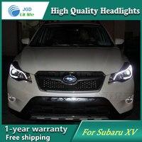 JGD Car Styling Head Lamp for Subaru XV Headlights 2011 2015 LED Headlight DRL H7 D2H Hid Option Angel Eye Bi Xenon Beam
