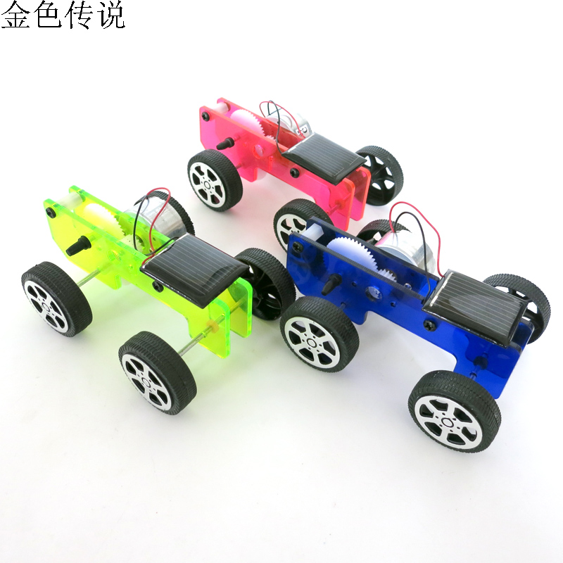 diy solar toy car assemble solar vehicle mini solar energy powdered toys racer child kid solar car education kit f179368 in parts accessories from toys