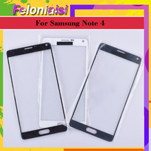 10Pcs/lot For Samsung Galaxy Note 4 N910 N910A N910F N910H Touch Screen Front Glass Panel TouchScreen LCD Outer Lens SM-N910H display assembly with touchscreen and front panel for samsung for galaxy note 3 sm n9005 lte 4g black gh97 15107a
