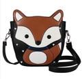 2016 New Fashion Women Messenger Bags Lovely Cartoon Fox Women Leather Handbags Casual Shoulder Bags