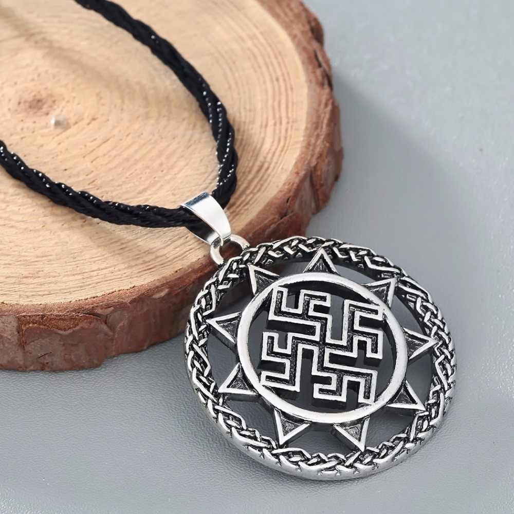 CHENGXUN Dukhobor Amulet słowiański silny ochronny uzdrowienie wisiorek starożytny słowiański Symbol talizman wisiorek – biżuteria mężczyźni naszyjnik