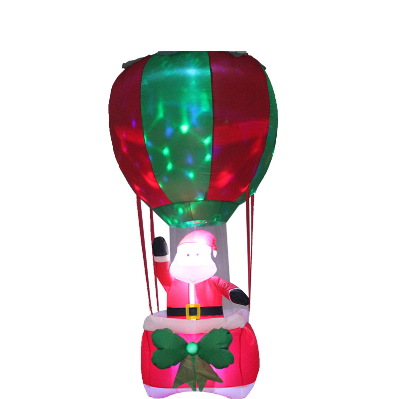 LED Lighted Christmas Inflatable Airblown Santa Claus Costume in Hot Air Balloon 6FT Xmas Yard Home Outdoor Blow Up Decorations replay ty99 7x17 5x114 3 d60 1 et45 s