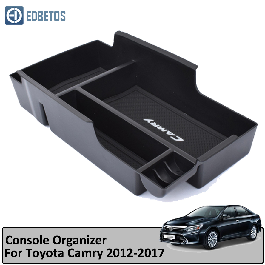 EDBETOS Car Armrest Box Center Console Storage Glove Box Organizer Insert Tray For Toyota Camry 2012 2017-in Stowing Tidying from Automobiles & Motorcycles