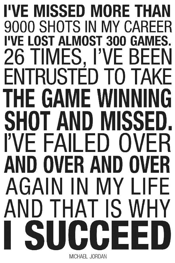 Hot i succeed Michael Jordan inspirational Quotes estudiantes ...