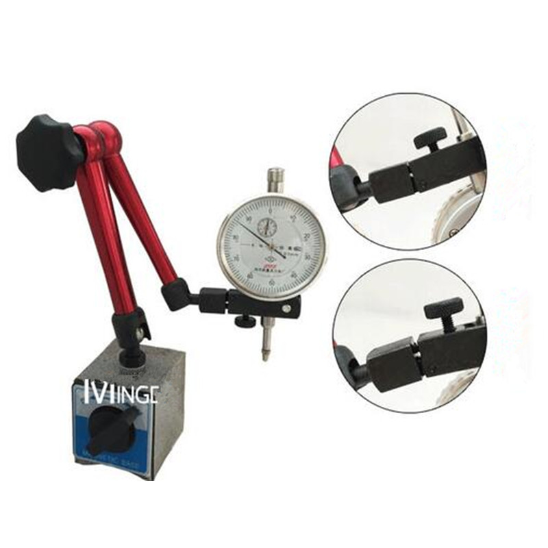 ФОТО Mini Universal Flexible Magnetic Base Dial Test Indicator with 2 IN 1 Dial Indicator 0-0.8mm/0.01mm