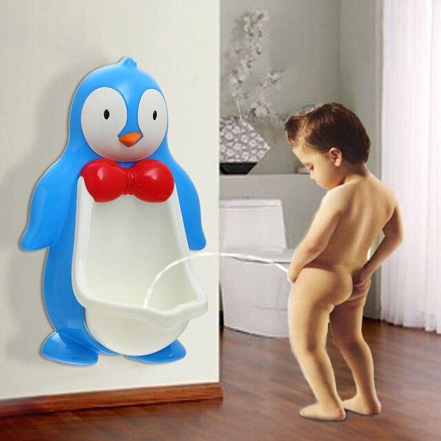 The NEW EUROPEAN EN 2016 CERTIFIED PLASTIC PENGUIN CARTOON IMAGE BABY BOY URINAL - POTTIES