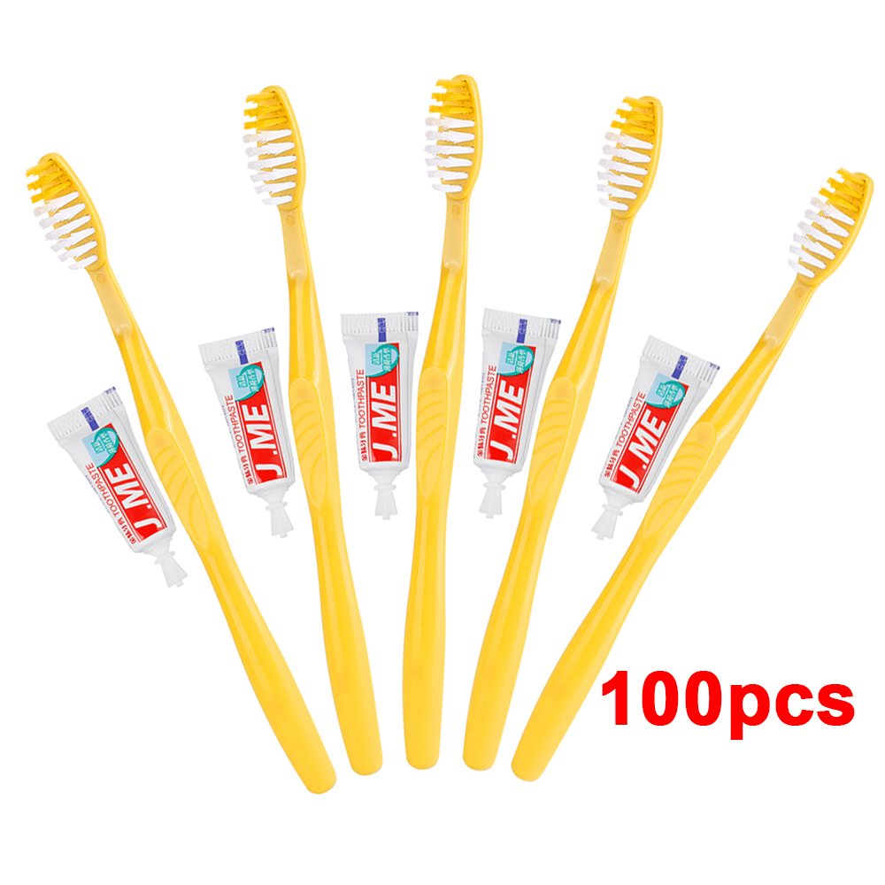 100/50/2010/5/2/1 Sets Disposable Portable Travel Toothbrush With Toothpaste Kit Convenient Oral Care Plastic Teeth Clean Tool
