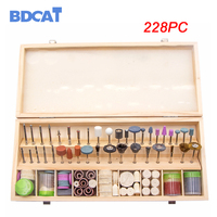 BDCAT 228PCS Rotary Tool Accessories for Easy Cutting Grinding Sanding Carving and Polishing Tool Combination For Dremel
