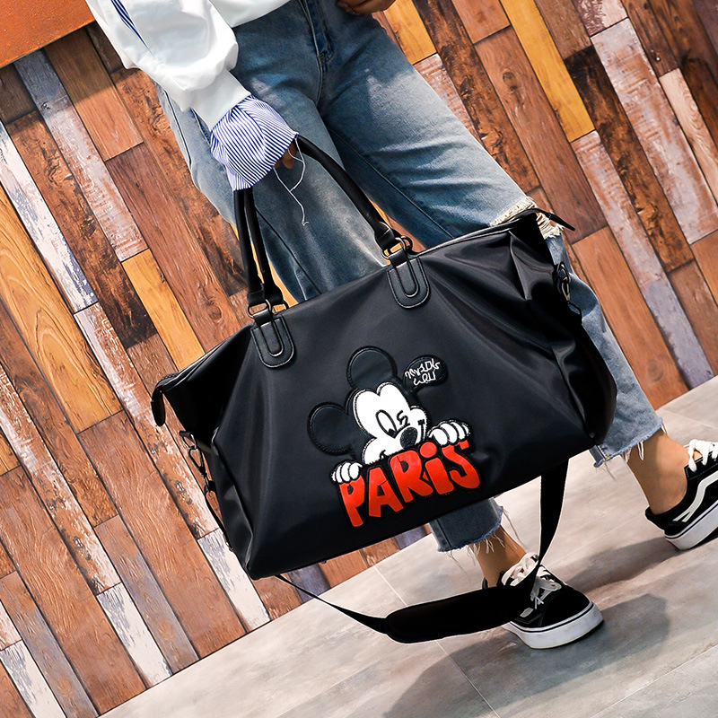 Dolls & Stuffed Toys Disney Mickey Mouse Waterproof Cartoon Bag Shoulder Student Bag Luggage Female Bag Lady Bag Hand Travel Boarding Big Package