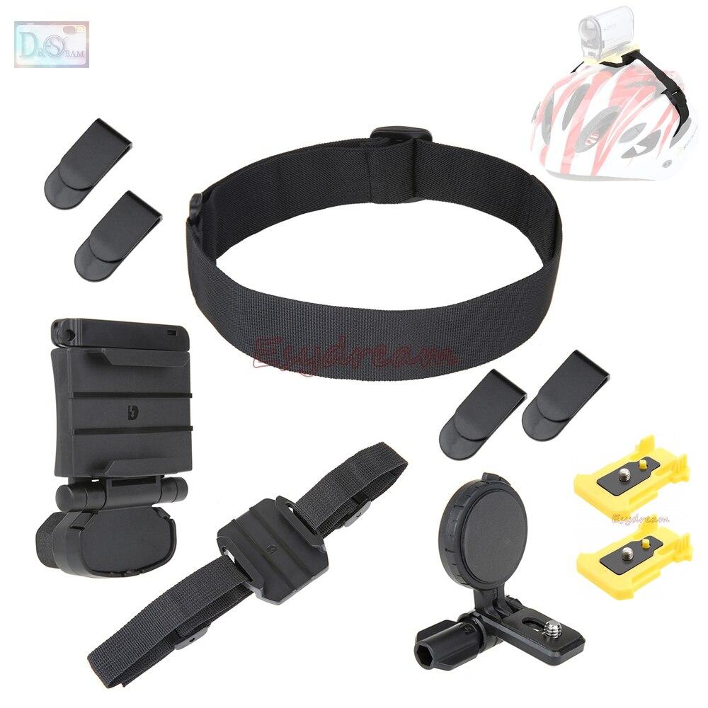 Cabeza del casco montaje Kit de montaje para Sony acción FDR-X3000 HDR-AS30V HDR-AS100V HDR AS20 AS30V AS300 AS200V AS100V como BLT-UHM1