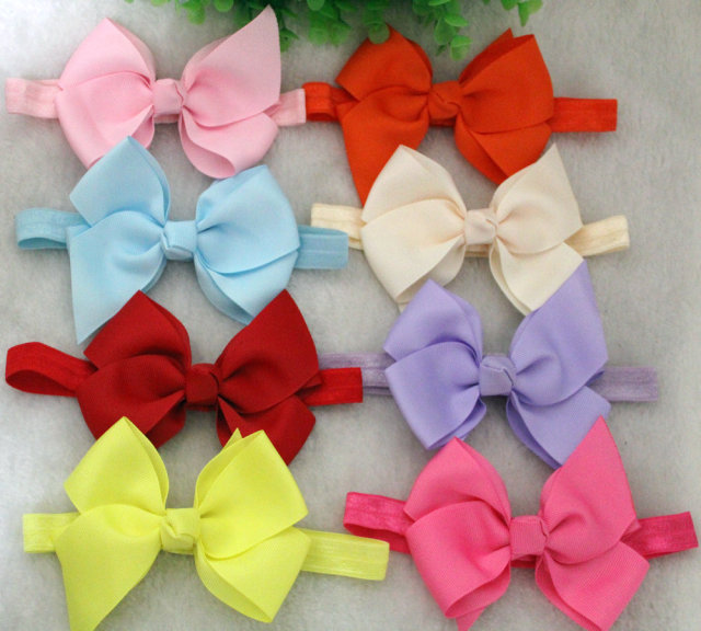234ee2d168d15 Aliexpress.com : Buy ePacket 4 inch hair bow 10pcs/lot kids elastic ...